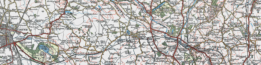 Old map of Alsager in 1923