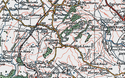 Old map of Alsagers Bank in 1921