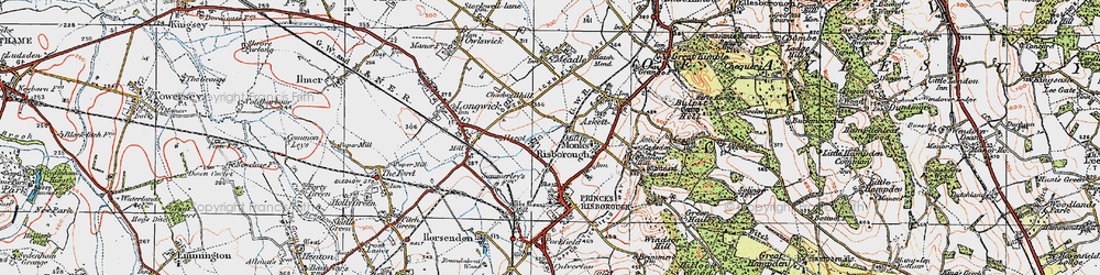 Old map of Alscot in 1919