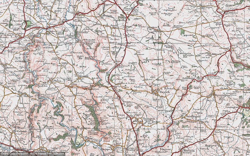 Old Map of Alsop en le Dale, 1923 in 1923