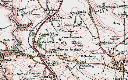 Old map of Tissington Trail in 1923