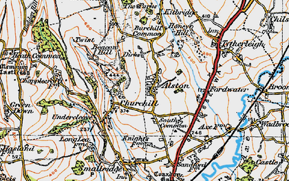 Old map of Alston in 1919