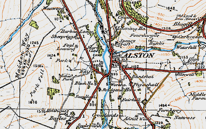 Old map of Bankfoot in 1925