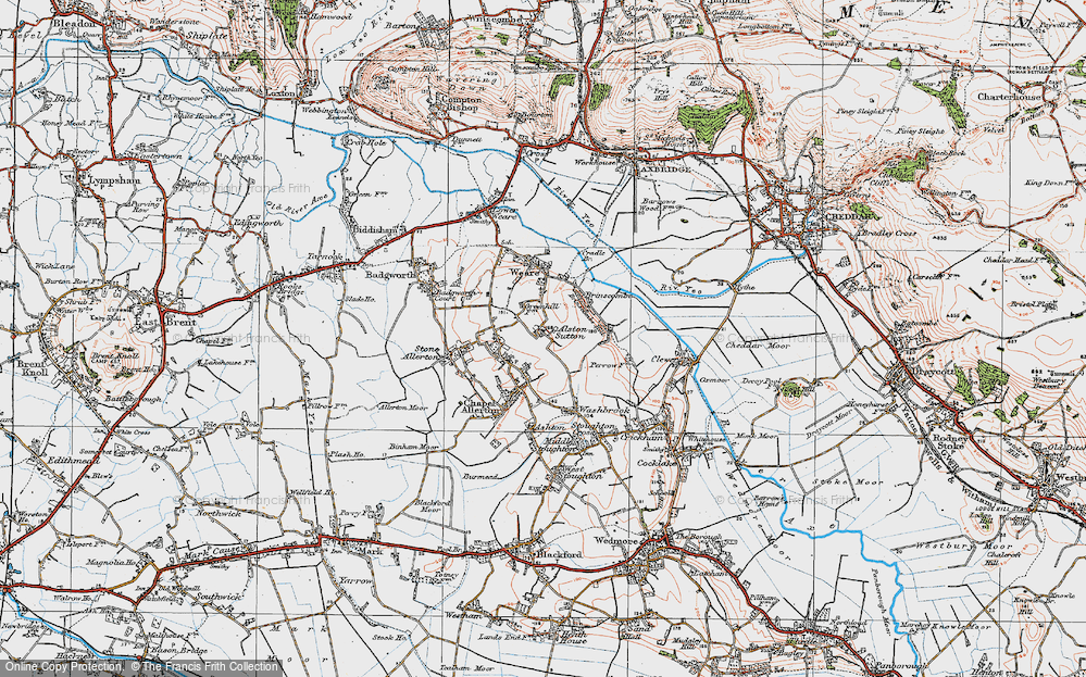 Old Map of Alston Sutton, 1919 in 1919