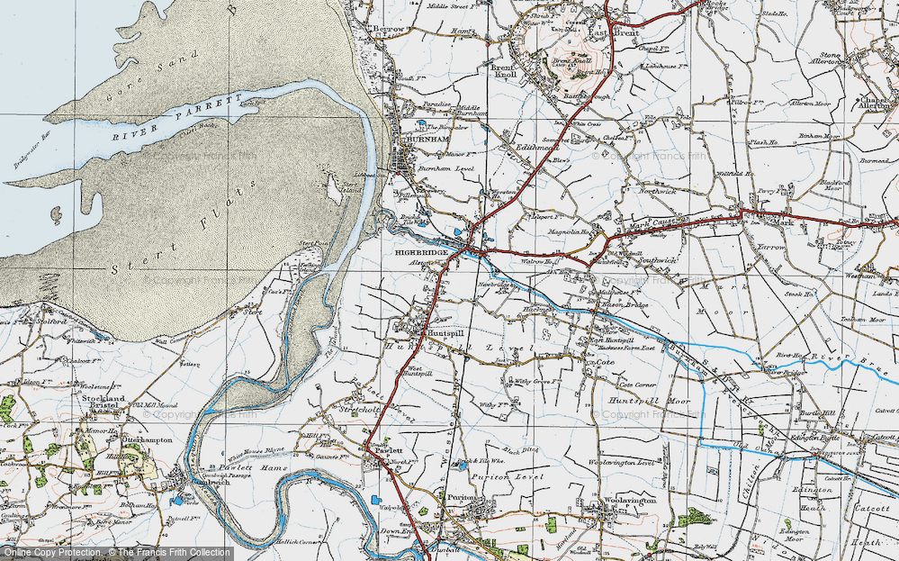 Old Map of Alstone, 1919 in 1919