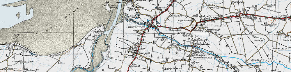 Old map of Alstone in 1919