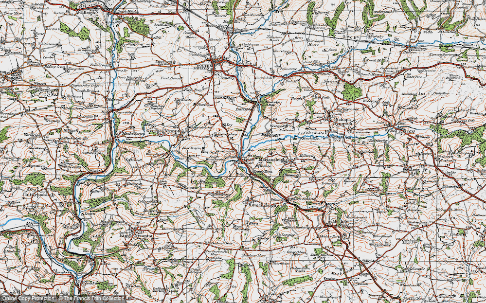 Old Map of Alswear, 1919 in 1919