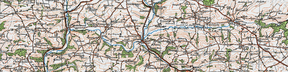 Old map of Alswear in 1919