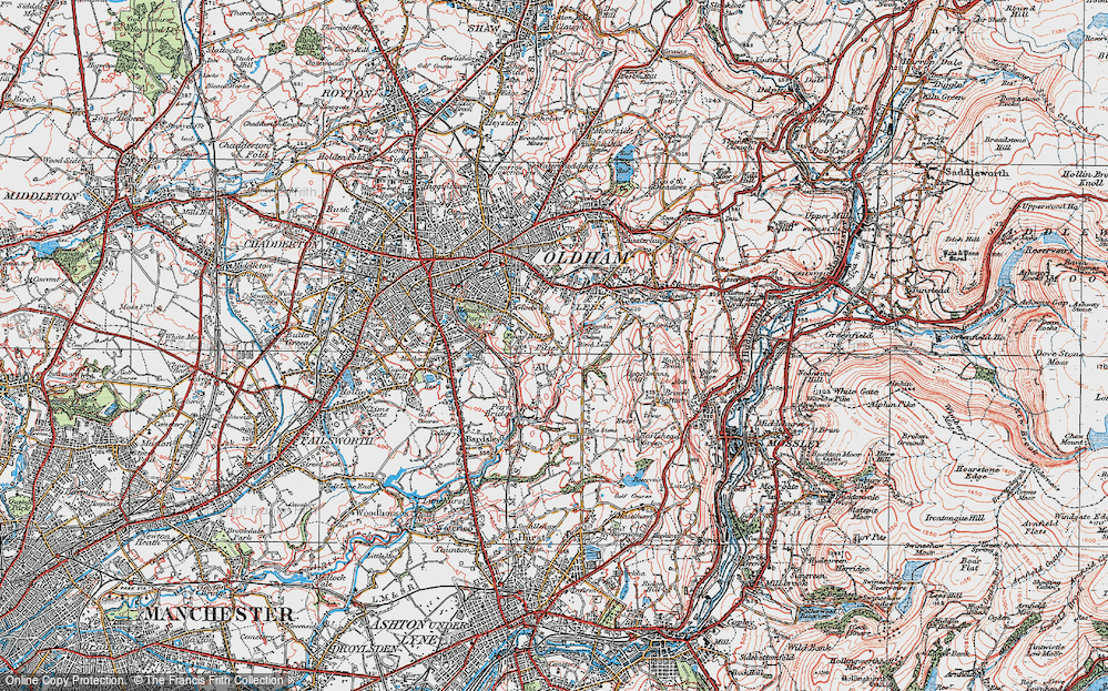 Old Map of Alt, 1924 in 1924