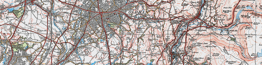 Old map of Alt in 1924
