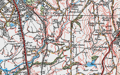 Old map of Alt Hill in 1924