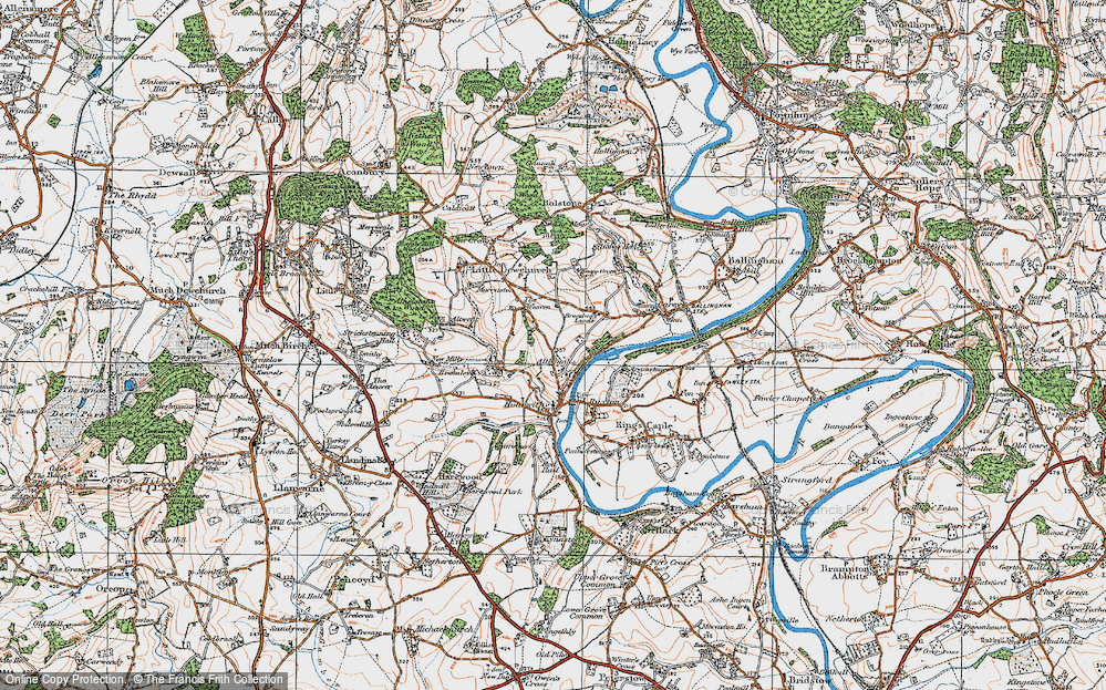 Old Map of Altbough, 1919 in 1919