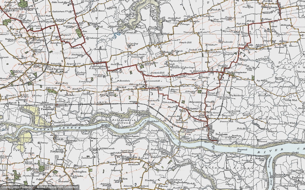 Old Map of Althorne, 1921 in 1921