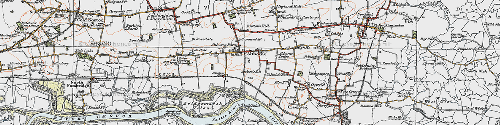 Old map of Althorne Sta in 1921