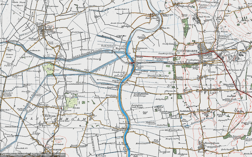 Old Map of Althorpe, 1923 in 1923
