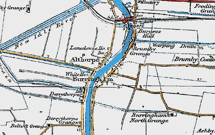 Old map of Althorpe Sta in 1923