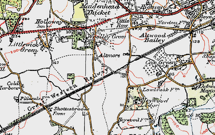 Old map of Altmore in 1919