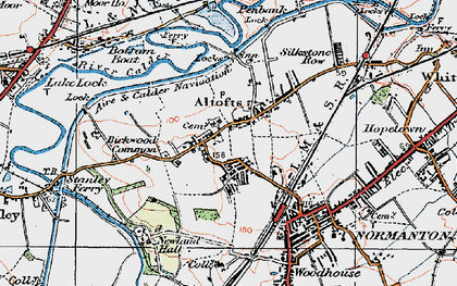 Old map of Altofts in 1925