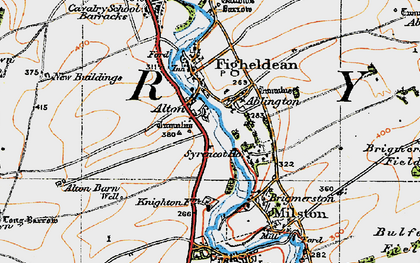 Old map of Alton in 1919