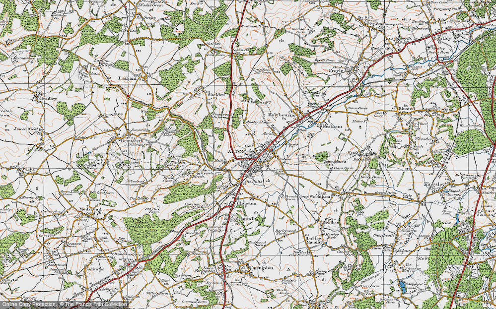 Old Map of Alton, 1919 in 1919