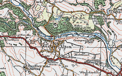 Old map of Alton Towers in 1921