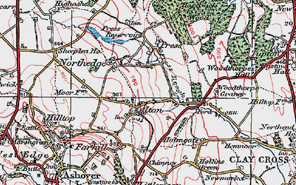 Old map of Alton in 1923