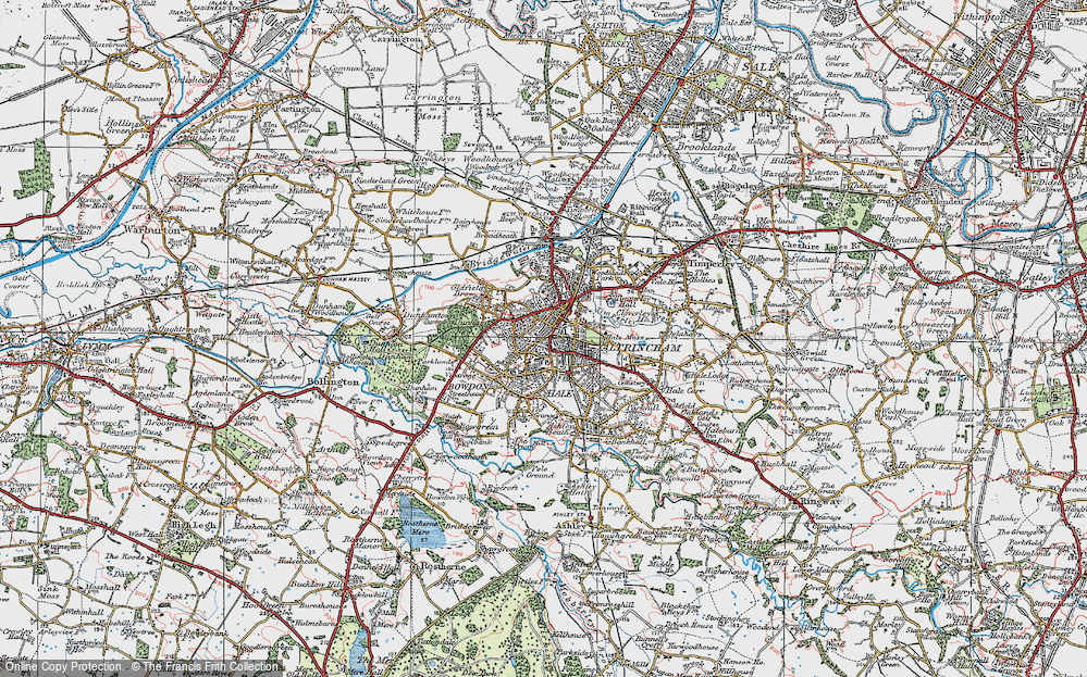 Old Map of Altrincham, 1923 in 1923