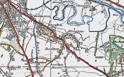 Old map of Alvaston in 1921