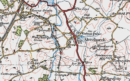 Old map of Alvechurch in 1919
