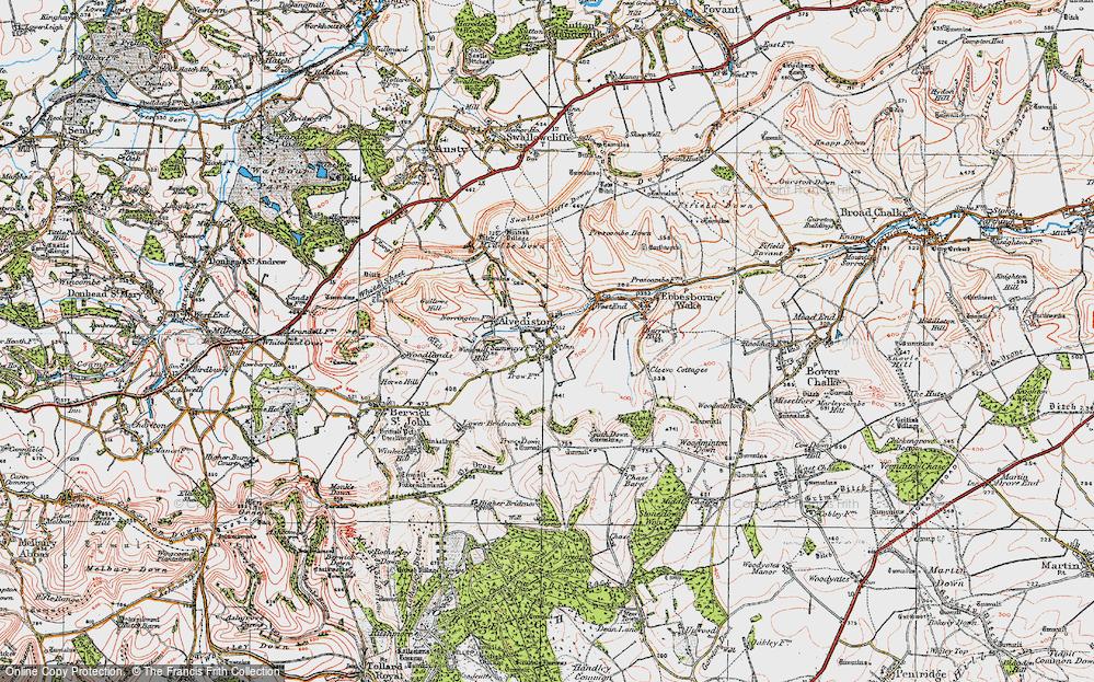 Old Map of Alvediston, 1919 in 1919