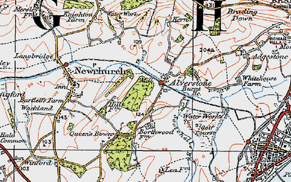 Old map of Alverstone in 1919