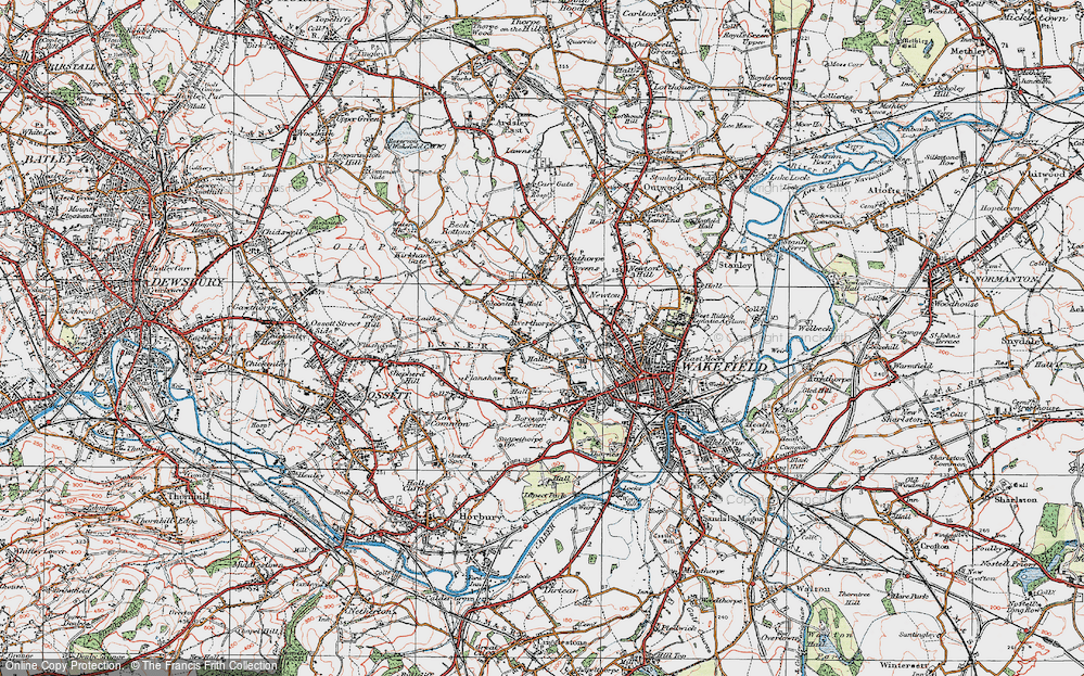 Old Map of Alverthorpe, 1925 in 1925