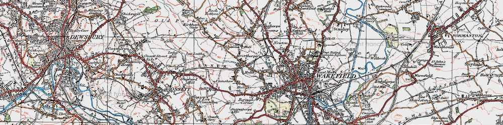Old map of Alverthorpe in 1925
