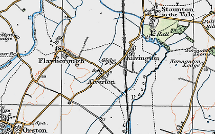 Old map of Alverton in 1921
