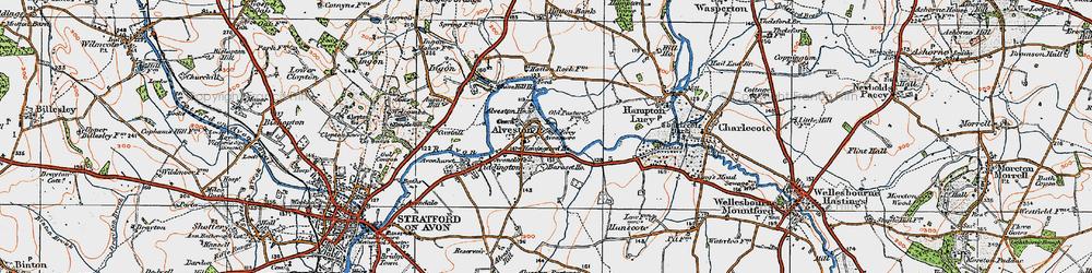 Old map of Alveston Ho in 1919