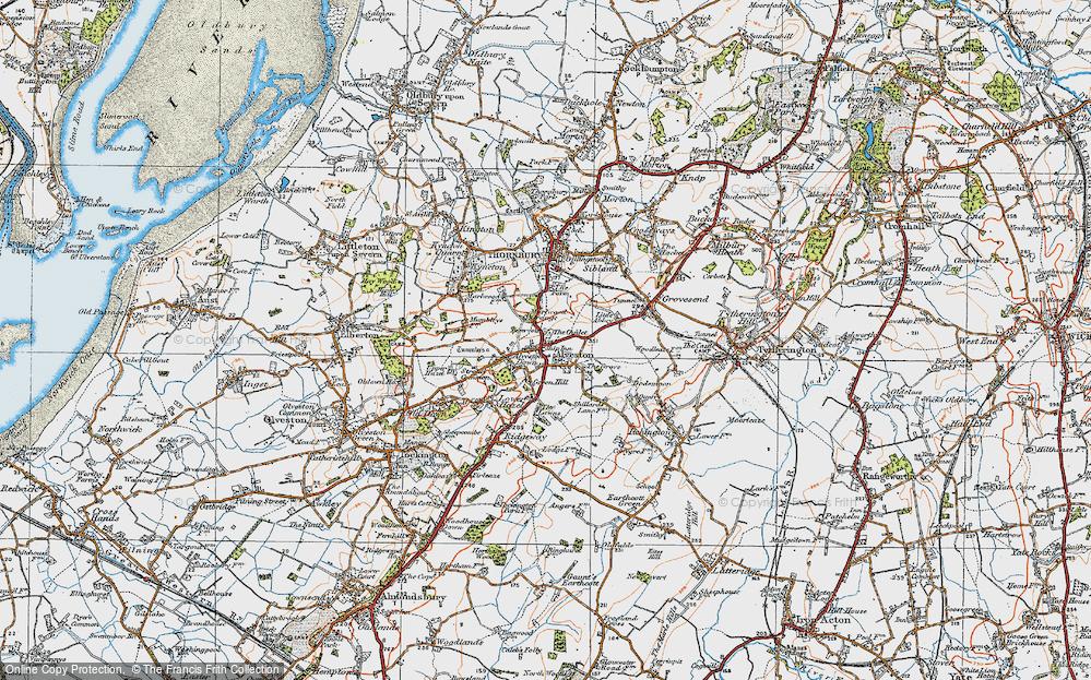 Old Map of Alveston, 1919 in 1919