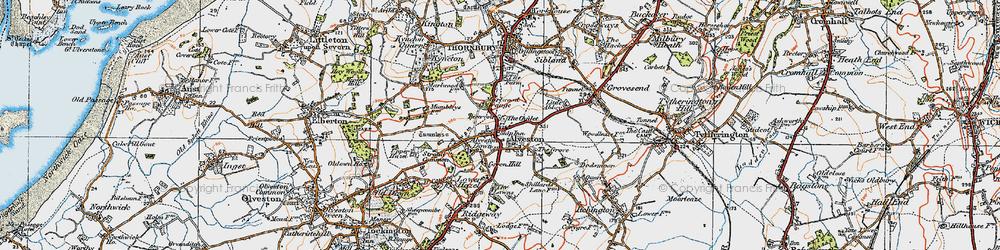 Old map of Alveston in 1919