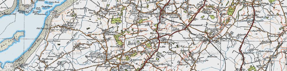 Old map of Alveston Down in 1919