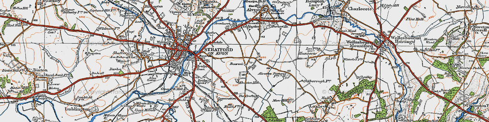 Old map of Alveston Hill in 1919