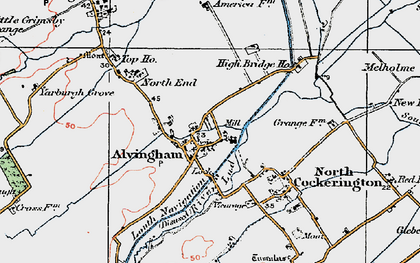 Old map of Alvingham in 1923