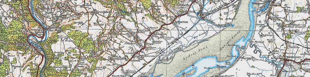 Old map of Alvington in 1919