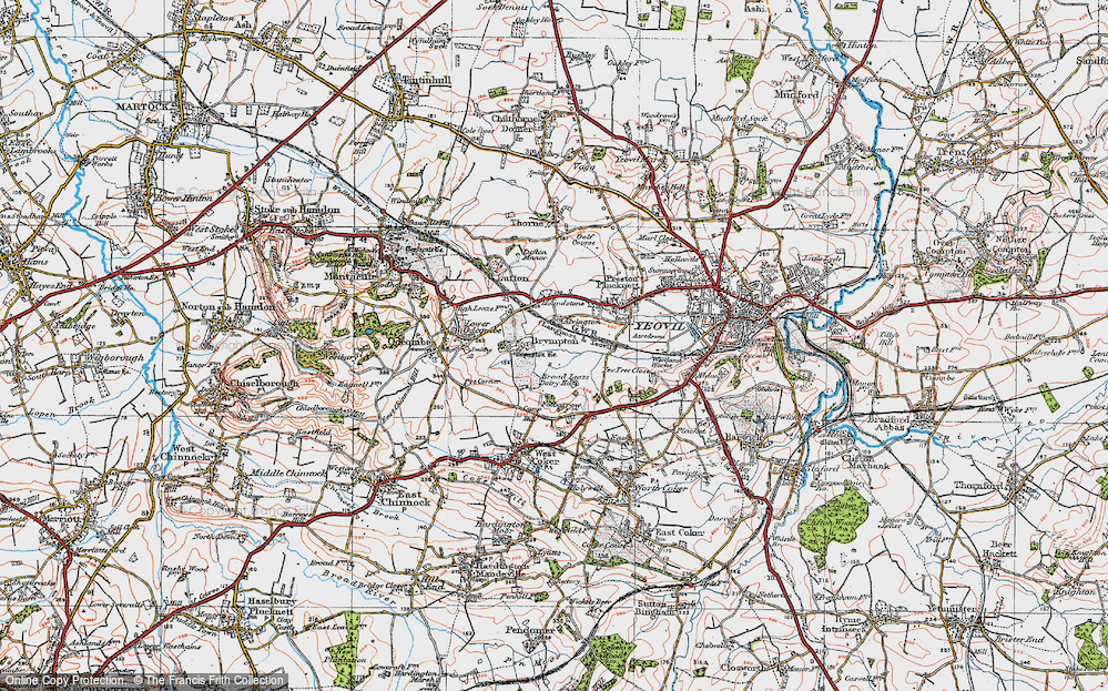 Old Map of Alvington, 1919 in 1919