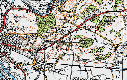 Old map of Alway in 1919