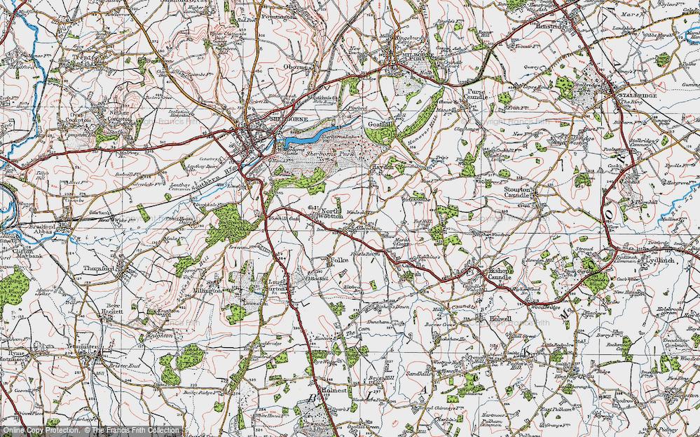 Old Map of Alweston, 1919 in 1919