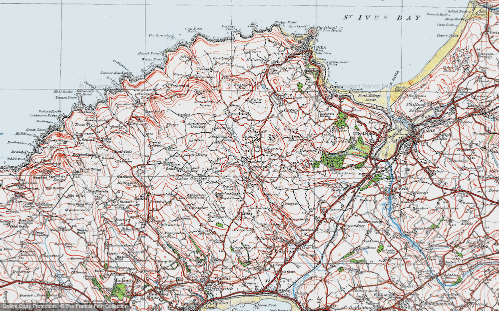 Old Map of Amalebra, 1919 in 1919