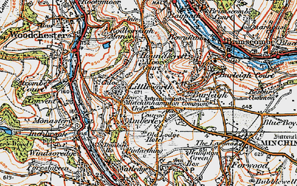 Old map of Whitfield's Tump (Long Barrow) in 1919