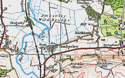 Old map of Amberley in 1920
