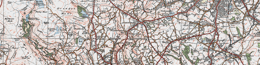 Old map of Ambler Thorn in 1925