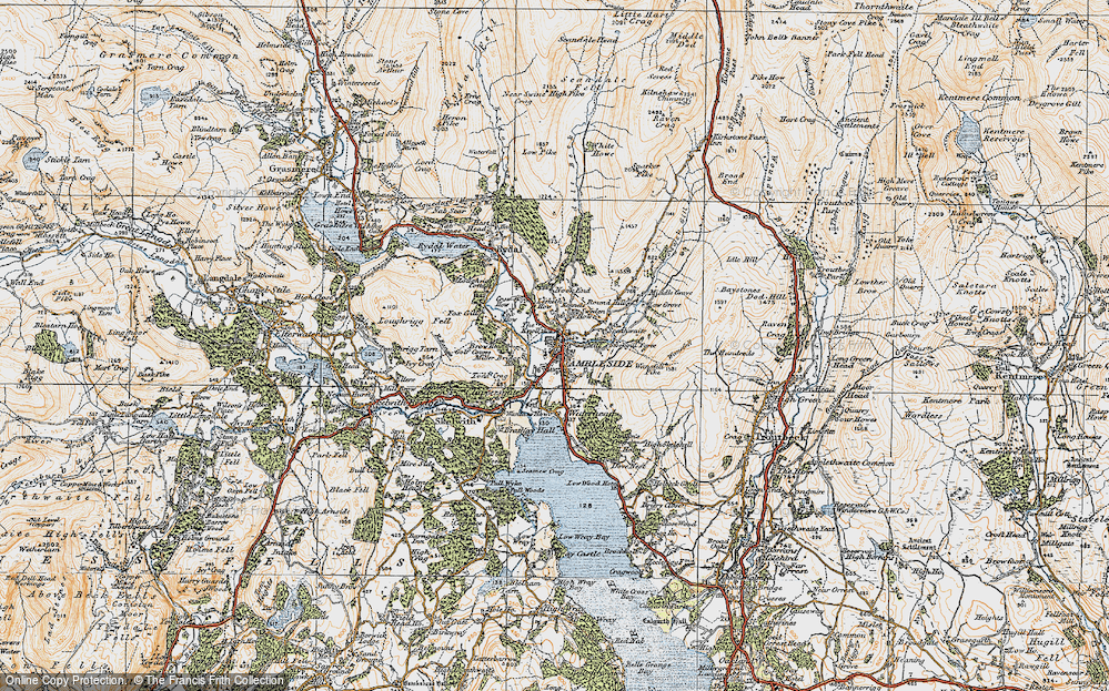 Old Map of Ambleside, 1925 in 1925