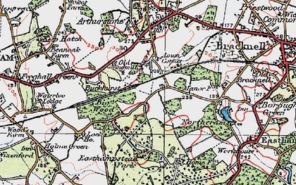 Old map of Amen Corner in 1919